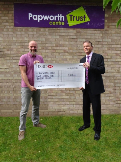 Papworth Trust Cheque